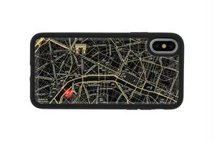 FLASH Paris回路地図 iPhoneX/XSケース 黒【東京回路線図A5クリアファイルをプレゼント】