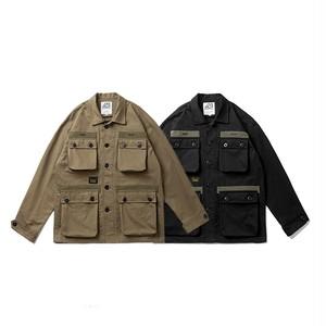 【UNISEX】アウトドア マルチポケット ジャケット【2colors】