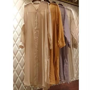 sheer long shirt  one-piece シアー ロング シャツワンピース