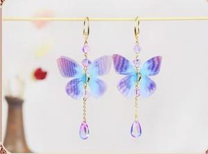 ❤︎売れてます!浴衣に❤︎  07000  レディースファッション  和風 蝶々  可愛い 小物 アクセサリー 揺れる ピアス