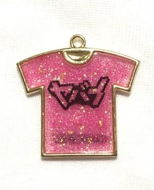ヤバイTシャツキーホルダー ラメピンク ビッグロゴ
