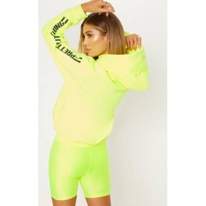 "PRETTY LITTLE THING ""YELLOW NEON CYCLING SHORTS"""