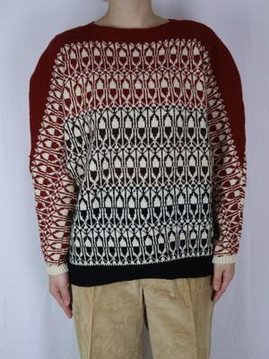 all pattern sweater【5097】