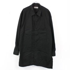 YOHJI YAMAMOTO POUR HOMME / ヨウジヤマモトプールオム | レギュラーカラーワークロングシャツ | ブラック