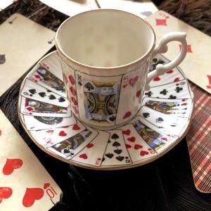 トランプ柄のカップ&ソーサー