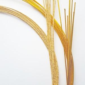 水引素材ー基本色(20本) 黄金色