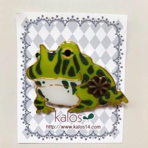 kalos カエルブローチ169