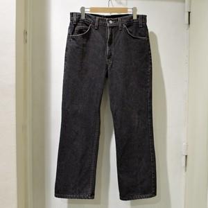 1990s Levi's 517 Black Boots Cut Jeans / Denim Pants リーバイス / 90年代 ブーツカット 先染め ブラック アメリカ製