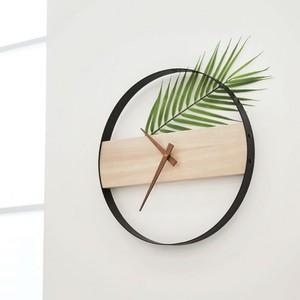 botanical wood wall clock / ボタニカルウッド 壁掛け時計 北欧 韓国