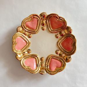 【Rey Yanagimoto】陶器・大ジュエリープレート(Mirror heart140)