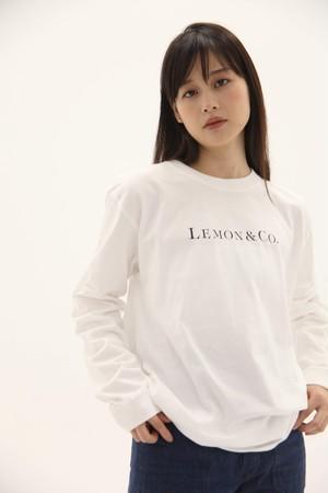 Lemon&Co ロンT / ピュアホワイト