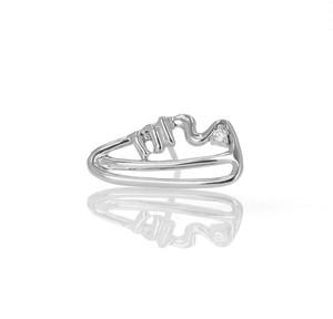 Silver / ピアス (片耳) / EVERYDAY SHOES- Diamond Sneaker