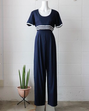 80's navy all-in-one
