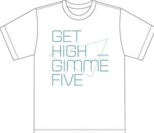 GET HIGH GIMME FIVE Tシャツ ホワイト