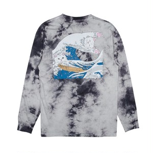 RIPNDIP - The Great Wave Of Nerm L/S Tee (Gray Tie Dye)