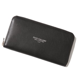 LEATHER WALLET (BLACK/SILVER) / RUDE GALLERY