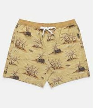 RHYTHM リズム 水着 HONOLULU BEACH SHORT SUNSET YELLOW