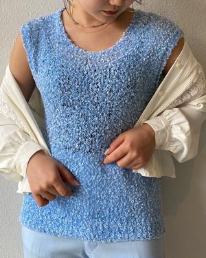 (PAL) crochet knit vest
