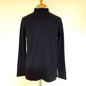 Mock Neck L/S Cut & Sewn Black