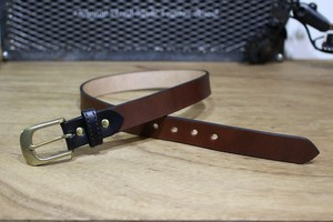 """Color Garrison Belt Nallow"" Brown"