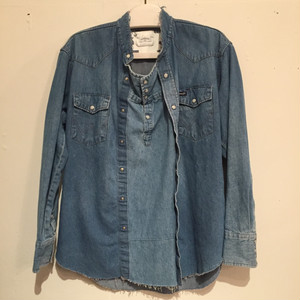 【OLD PARK】PULLOVER SHIRT DENIM WESTERN OP-85-D (No : 750005)