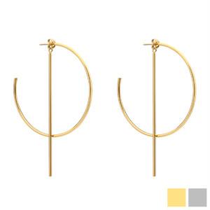 C hoop × bar 2way pierce