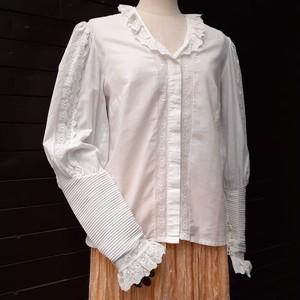 Vintage frill collar cotton blouse ヴィンテージフリルカラーコットンブラウス