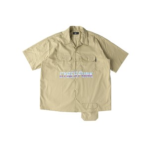 CYBER PUNK work shirt / BEIGE