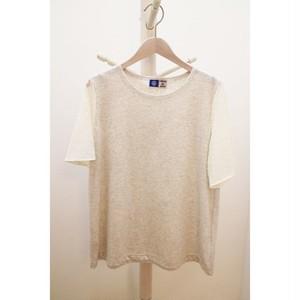 MARINE SNOW 袖レースTシャツ