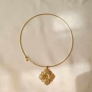 70s ヴィンテージ クラシカル チョーカー victorian motif gold choker