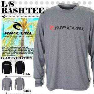 B01-872 リップカール ロングTシャツ 長袖 ラッシュガード 新作 メンズ オリジナル ブラック 黒 グレー 灰 L/S RASH TEE RIP CURL
