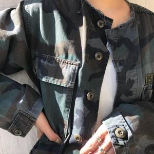 """USED """" 60' US  army camouflage jacket / 60年代アメリカ軍カモフラージュジャケット"""""""