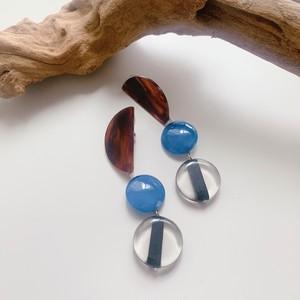 """"""" Earrings NO.danoan-37″ペイントとフランスビーズ"""