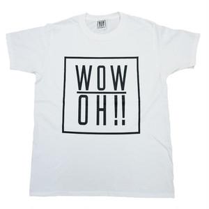 【wow OH!!】ワオ!!  オリジナルロゴTシャツ White   wow-1 ※こちらの商品は受注生産品となります※