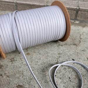 極上の艶 靴紐 (グレー) 平紐 6mm