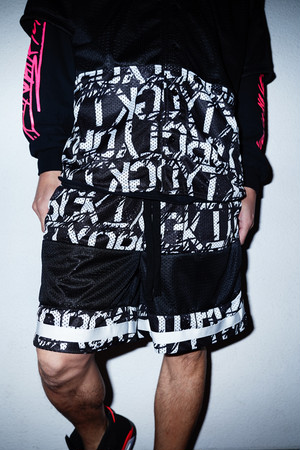 "Rakugaki ""STENCIL & TAGGING"" BasketBall Short Pants"