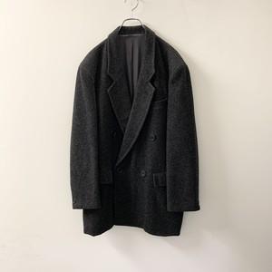 JUN MEN ダブル ウールジャケット チャコールグレー size M メンズ 古着
