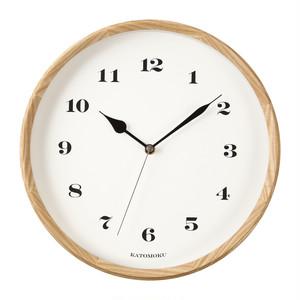 KATOMOKU muku round wall clock 3 km-54NRC 電波時計
