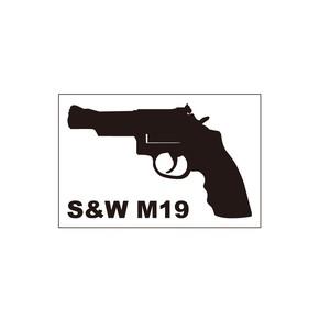 銃ステッカー S&W M19