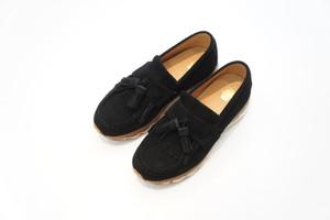 TASSEL LOAFER AIR SOLE (×Tomo&Co) -BLACK- / elephant TRIBAL fabrics