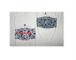 MS1 子供用浴衣マスク(S・花柄・江戸柄)