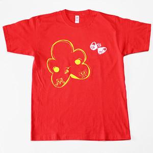 おはなコちょうちょコTシャツ(赤のSサイズ)