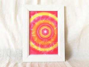 【ポストカード】数秘10フラワーオブライフエネルギーアート
