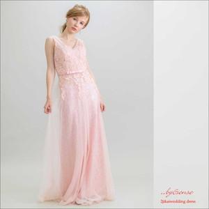 (結婚式二次会ウェディング)~ロングドレス~ピンク