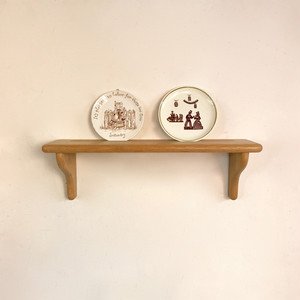 Vintage Oakwood Display Wall Shelf オランダ / Small