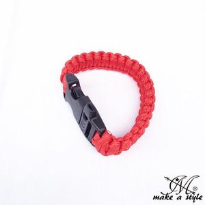 パラコード ブレスレット サバイバルブレス ロープ 赤 B系 ストリート系 男女兼用 メンズ レディース アクセサリー ゴージャス ユニセックス 109