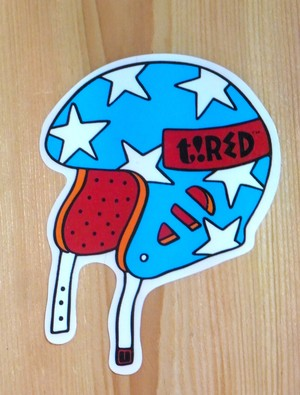 [ TIRED ] HELMET STICKER