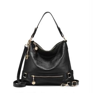 Handbag Leather Messenger Bag Shoulder Crossbody Bag Large Tote Bag Zipper トートバッグ レザー クロスボディ 天然 ハンドバッグ メッセンジャーバッグ (RO99-2591285)