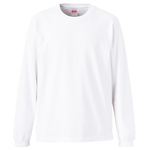 クルーネック Tシャツ (長袖・オープンエンド) ホワイト