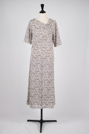 【MURRAL】stretch lace dress - gray